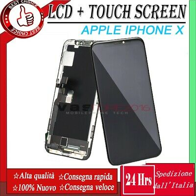 Display Schermo Per Apple Iphone X Oled Touch Screen  Lcd Frame Originale Tianma