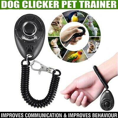 New Dog Clicker Pet Dogs Puppy Training Clicker Trainer Teaching Tool