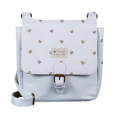 Wrendale Designs Powder Blue Bee Satchel Bag - Modern Bee Satchel Bag Gift Idea
