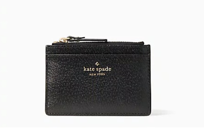 Kate Spade NWT Adi Grove St Leather Card//Cash// ID//Coin in Neutral Beige