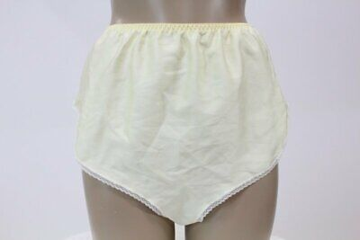 Vintage Texsheen Satin tap panties Dainty lace unlined Small yellow panty USA