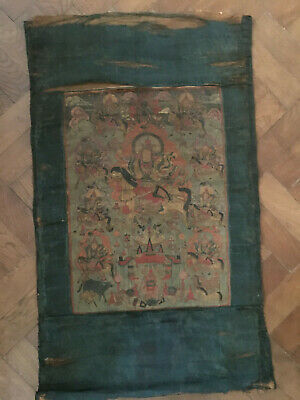 19th Century Mongolian Thangka Silk