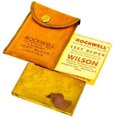 "ACCO Wilson B 41.8 +/-1.5 Rockwell Hardness Tester 2.5"" x 1.5"" Test Block"
