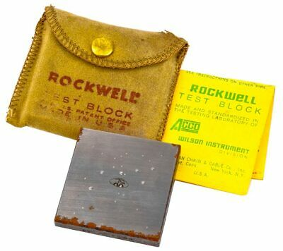 "ACCO Wilson 30N 42.4 +/-1.0 Rockwell Hardness Tester 1 3/4"" Square Test Block"