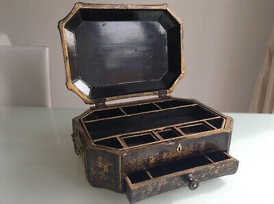Rare Antique Early 19th Century Chinese Sewing Box / Work Box Collectable