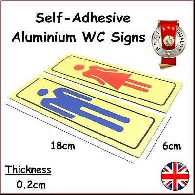 Self Adhesive Toilet WC Washroom Bathroom Signs Gents Ladies Male Female Door UK