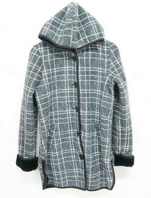SUPER SOFT BUTTON FRONT VARIETY NEW WOMENS IKE BEHAR PLUSH LINED HOODED JACKET