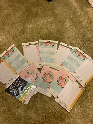 My Plan My Way Lot Of 12 Pocket Tab Dividers Monthly Planner Pages Floral