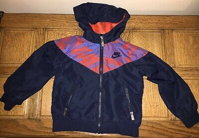 Boys Nike Soft Shell Jacket Age 3 Blue Red Holiday Sport Designer Girls Retro