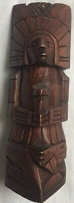 """Vintage Hand Carved Wooden Mask Tribal Wall Hanging Home Dec.10""""x 3 1/2"""""""