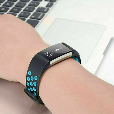 For Fitbit Charge 2 Bands, Soft Silicone Adjustable Replacement Band Sport Strap
