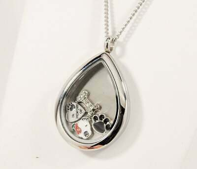 Pit Bull Tear Memory Locket Necklace, Engravable Dog Keepsake, Pittie Love Gifts