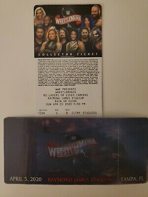 WWE Wrestlemania 36 Commemorative 3D Ticket Stub Rare Souvenir