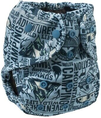 Buttons One Size Cloth Diaper Cover NWT Camp Out