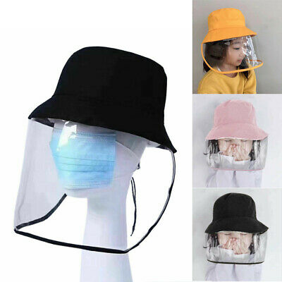 Kids Baby Fisherman Cap + Protective Clear Mask Saliva-proof Dust-proof Sun Hat