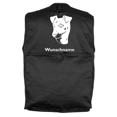 MIL-TEC Hundesport Outdoor Weste Manchester Terrier inkl. Wunschname