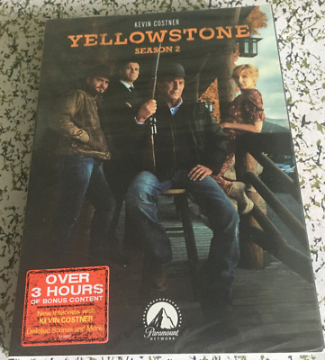 Yellowstone Season 2  (DVD, 4-Disc Set) Free Shipping New & Sealed US Seller