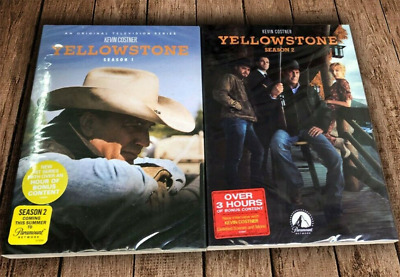 Yellowstone Season 1-2 (DVD, 8-Disc Set) Free Shipping New & Sealed US Seller