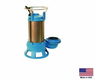"SEWAGE SHREDDER PUMP Submersible - Industrial - 4"" - 230V - 1 Ph - 13,200 GPH"