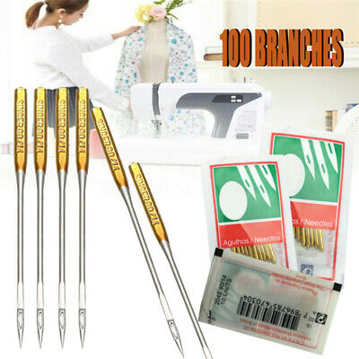 100PCS 9/11/14/16/18 Domestic Sewing Machine Needles 10PCS/Pack Iron Material D