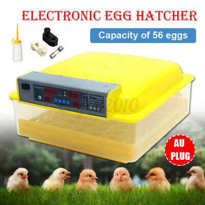 Digital 56 Egg Incubator Hatcher Bird Chicken Duck Automatic Turning Temperature