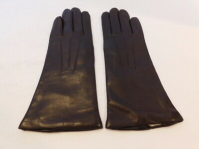 New! Eddie Bauer Ladies Brown Leather Winter Gloves Lambs Wool Lining Size Small