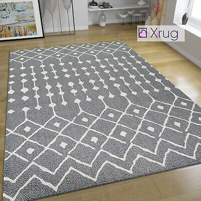 Washable Abstract Flat Weave Rug Mat