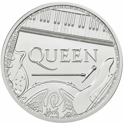 2020 Britain Legends of British Music Queen 1 oz Silver £2 BU