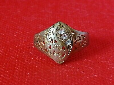 Rare Extremely Ancient Roman Ring Bronze Authentic Very Stunning