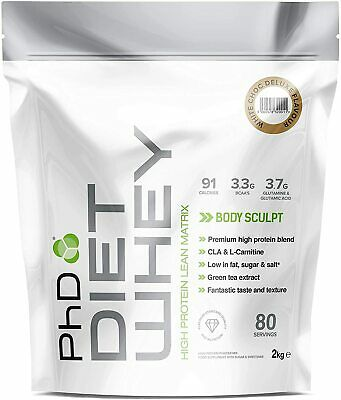 PhD Nutrition Diet Whey Protein 2kg White Chocolate Deluxe