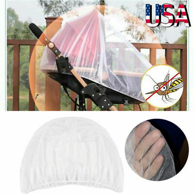 Universal Baby Stroller Mosquito Insect Net Cover Fit Pram Bassinet Car Seat USA