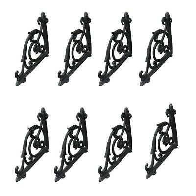 8 x Cast Iron Antique Style Heavy Duty Brackets Garden Braces Wall Shelf Bracket