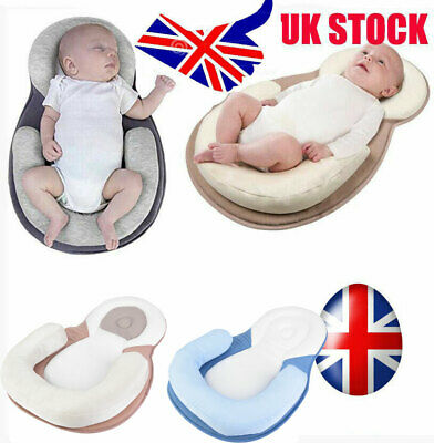UK Infant Baby Newborn Pillow Cushion Prevent Flat Head Sleep Nest Pod Anti Roll