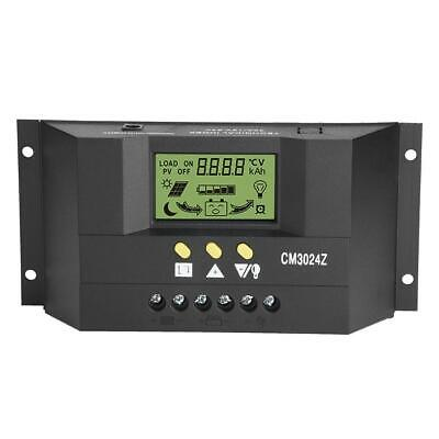 12V/24V 30A LCD Solar Charge Controller PWM Panel Charger Regulator