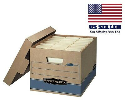 """Bankers Box Heavy Duty Storage Boxes, 10"""" x 12"""" x 15"""" (10 Pack), Kraft Brown"""