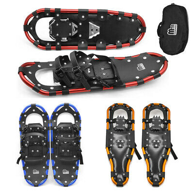 Snowshoes Women Men Aluminum Snow Shoes with Bindings Carrying Tote Bag I5P9