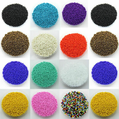 1000Pcs Opaque Glass Seed Loose Spacer Beads For Jewelry Making Craft DIY 2MM