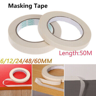 Masking Tape Rolls Indoor Outdoor DIY Painting Decorating Easy Tear  6-60MM*50M
