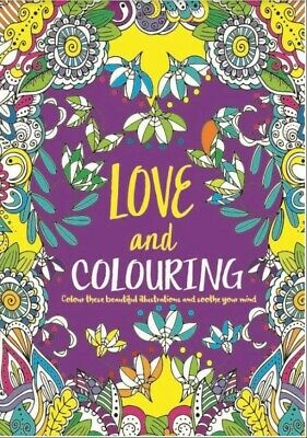 COLOUR THERAPY Love BOOK FOR ADULTS A4 SIZE colouring craft fun NEW FREE PP