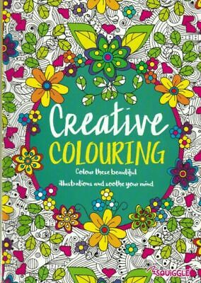 COLOUR THERAPY creative COLOURING BOOK FOR ADULTS A4 craft fun PAGES NEW FREE PP