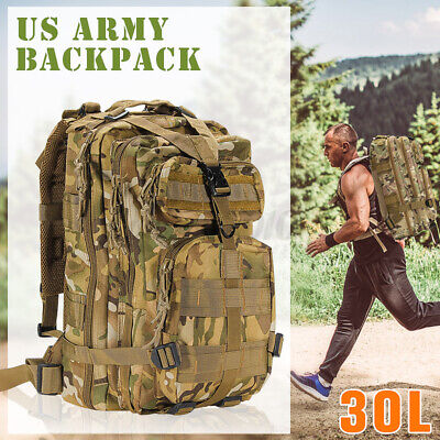 35L Hike Camping Bag Military Tactical Trekking Backpack Sport Rucksack Outdoor