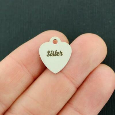 BFS2824 Little Sister Stainless Steel Charms Smaller Size