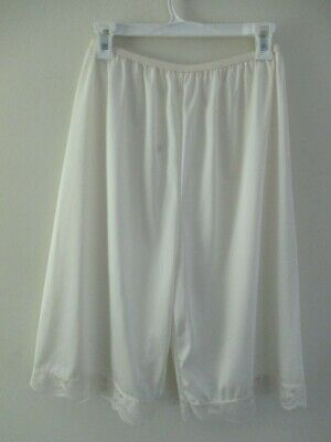 Vintage Lucer Dame 100% Nylon Long Leg Bloomers Panties Pettipants 1X Ivory Euc