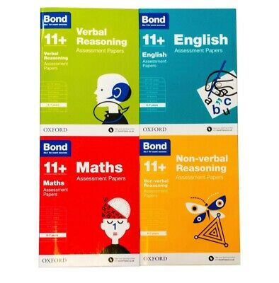 Bond 11+ Plus Books 10-11 Years Assessment Paperback - Oxford set of 4 Books