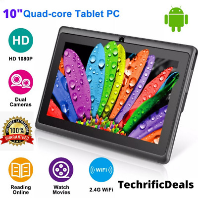 "10"" Inch Tablet PC Android Quad Core 16GB/32GB HD WIFI Dual Camera WiFi Gift NEW"