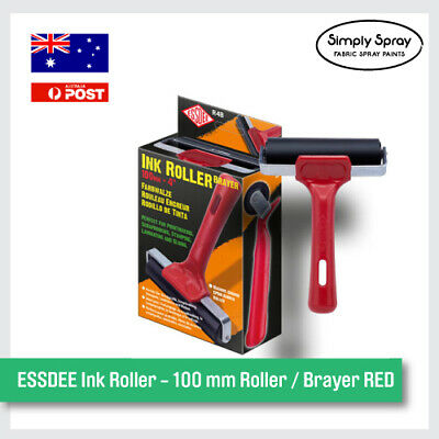NEW ESSDEE Ink Roller - 100 mm Roller / Brayer RED Fun Project Kit -FREE POST