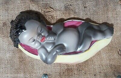 Brownie Downing Indigenous Australian Sleeping Babe Wall Plaque