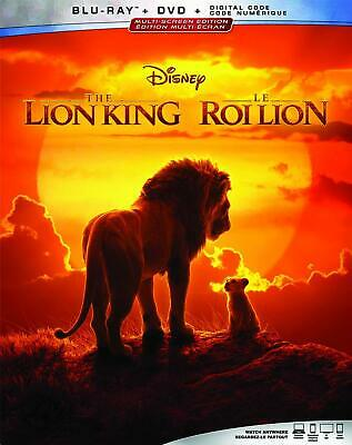 The Lion King (Blu-ray/DVD, 2019, Canadian)