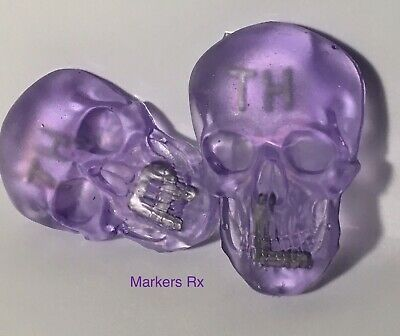 Purple X-ray Markers bundle. 1 Custom 3D skull X-ray Markers and 1 Reusable tape