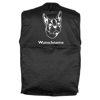 MIL-TEC Hundesport Outdoor Weste Boston Terrier 2 inkl. Wunschname